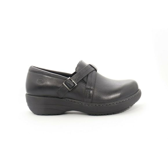Abeo Shoes | Bella Black Clog Slip On